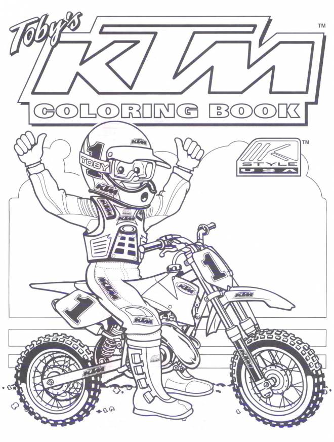 Free coloring and drawings Motorcyclist and Motocross for coloring Coloring page