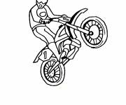 Coloring pages Motorcyclist and Motocross in show