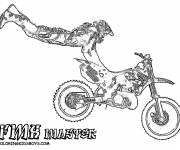 Free coloring and drawings Realistic motocross Coloring page