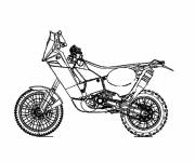 Coloring pages Stylized racing motorcycle
