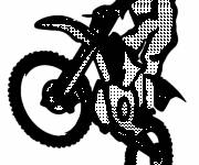Coloring pages Vector motocross online