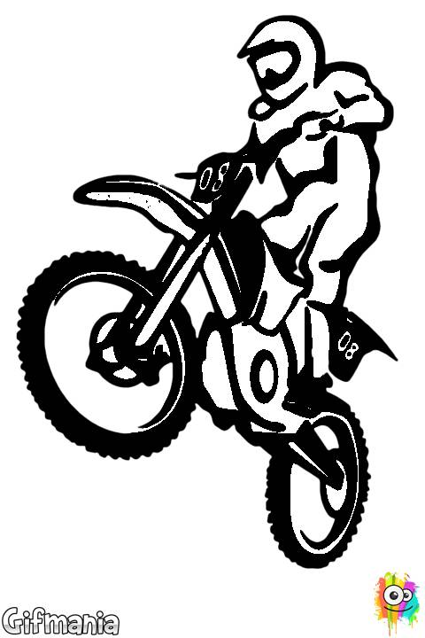 Free coloring and drawings Vector motocross online Coloring page