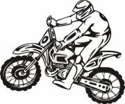 Coloring pages Vector professional motorcyclist