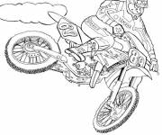 Coloring pages Yamaha motocross outdoors