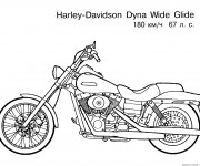 Coloring pages Harley Davidson Dyna Wide Glide