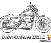 Coloring pages Harley Davidson XL1200N
