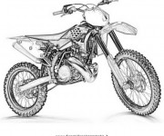 Coloring pages Image Motocross