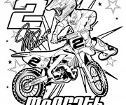 Coloring pages Moto Honda sport