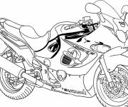 Coloring pages Motorcycle coloring in pencil
