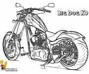 Coloring pages Motorcycle easy