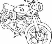 Coloring pages Motorcycle for boys