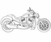 Coloring pages Motorcycle for free