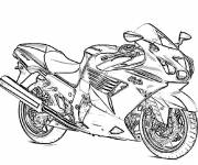 Coloring pages Motorcycle in pencil