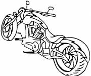 Coloring pages Motorcycle in white and black