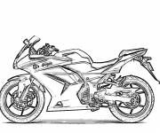 Coloring pages Motorcycle transport