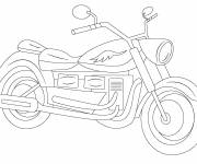 Coloring pages Motorcycle vector