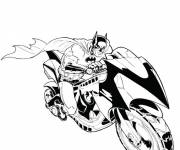 Coloring pages Batman and his Motorcycle