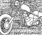 Coloring pages Harley Davidson motorcycle in color