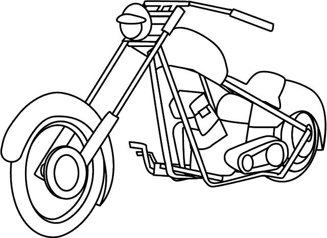 Free coloring and drawings Harley Davidson motorcycle in color Coloring page