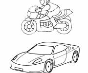 Coloring pages Honda Cars and Motorcycles