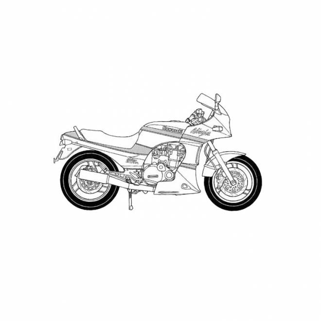 Free coloring and drawings Kawasaki motorcycle for children Coloring page