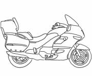 Coloring pages Maternal motorcycle