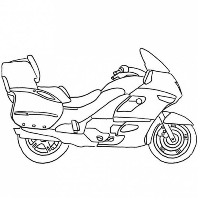 Free coloring and drawings Maternal motorcycle Coloring page