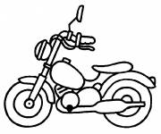 Coloring pages Motorbike Children's toy