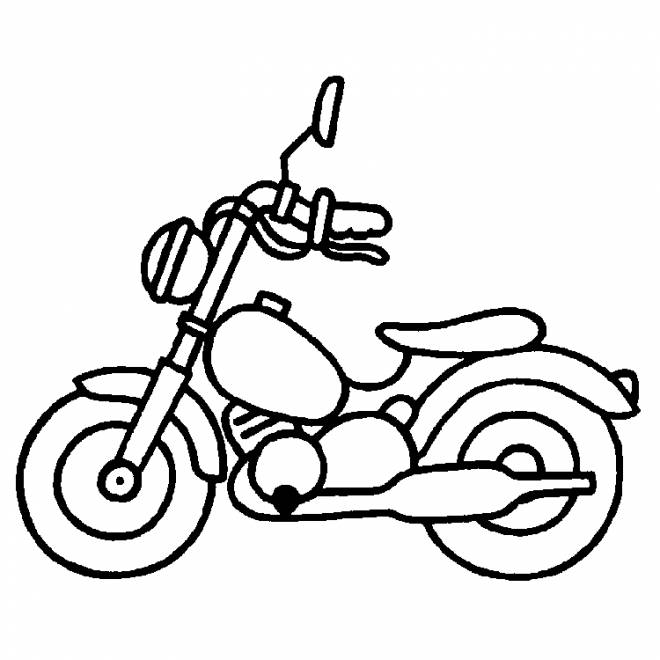 Free coloring and drawings Motorbike Children's toy Coloring page