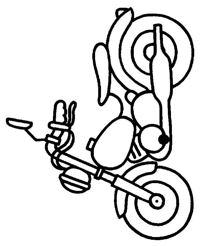 Free coloring and drawings Motorcycle toy for boy Coloring page