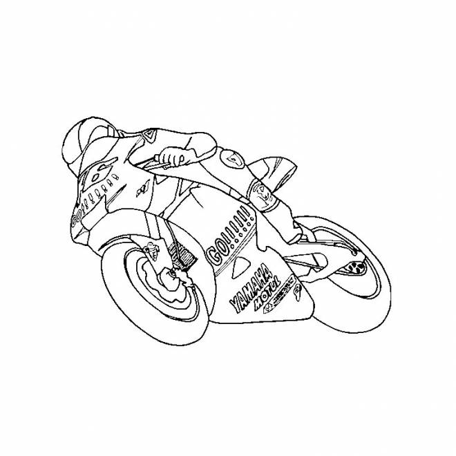 Free coloring and drawings Online racing motorcycle Coloring page