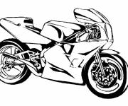 Free coloring and drawings Vector sport motorcycle Coloring page