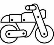 Free coloring and drawings Wooden motorcycle Coloring page