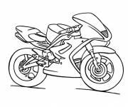 Coloring pages Yamaha Child Motorcycle