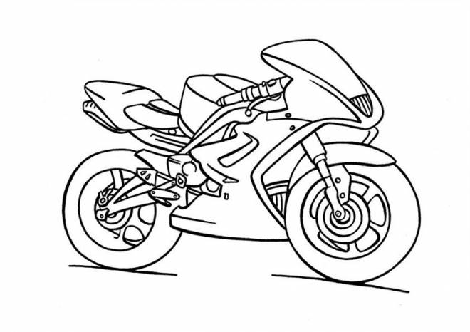 Free coloring and drawings Yamaha Child Motorcycle Coloring page