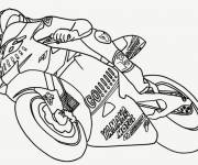 Coloring pages Yamaha motorcycle on way