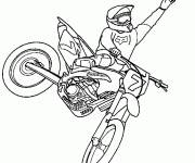 Coloring pages A color Motocross show