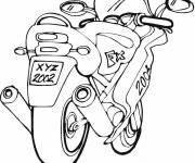 Coloring pages A fast motorcycle to download