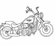 Coloring pages A Harley Davidson Motorcycle