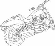 Coloring pages A maternal motorcycle