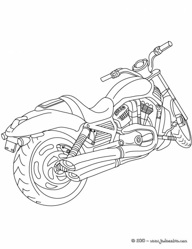 Free coloring and drawings A maternal motorcycle Coloring page
