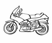 Coloring pages Black and white racing motorcycle