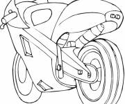 Coloring pages CBR racing motorcycle