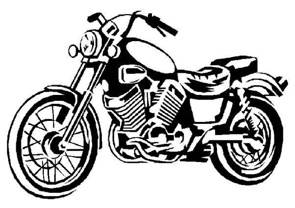 Free coloring and drawings Classic Harley Davidson motorcycle Coloring page