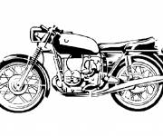 Coloring pages Classic harley motorcycle