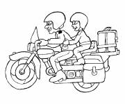 Coloring pages Harley motorcycle for kids