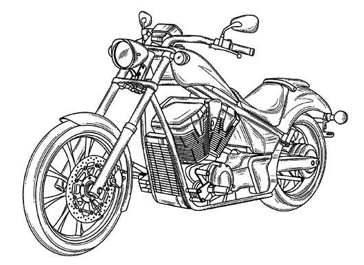 Free coloring and drawings Honda motorcycle for adults Coloring page