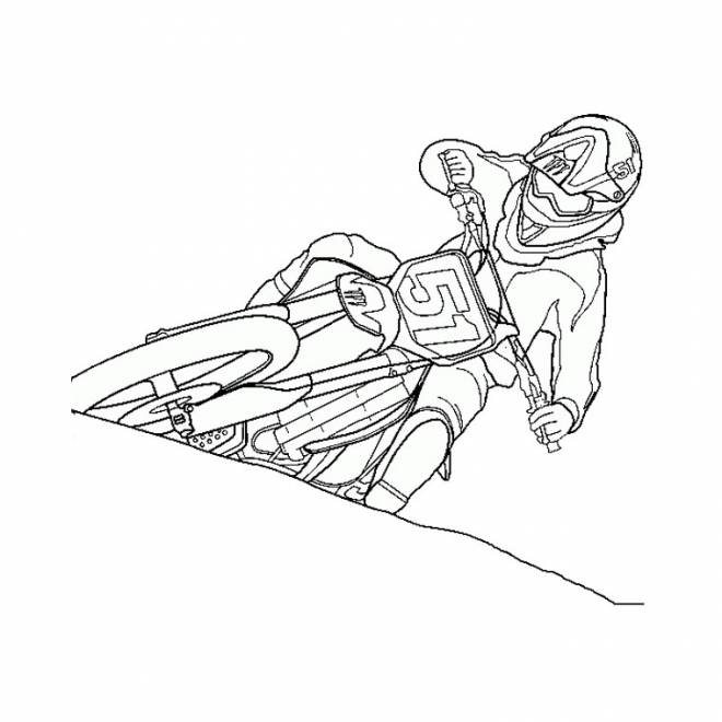 Free coloring and drawings Moto Cross Coloring page