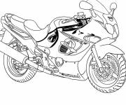 Free coloring and drawings Moto of race Suzuki Coloring page