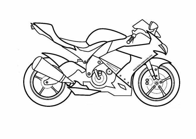 Free coloring and drawings Moto Suzuki Coloring page